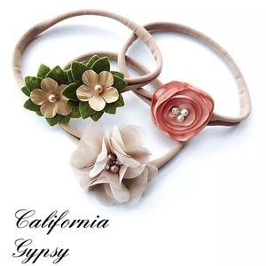 Other - JUST IN🎉Baby boho 3 floral headband✨
